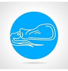 Squid blue round icon vector image vector image