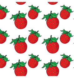 Strawberry pattern on transparent background vector image