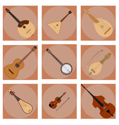 stringed dreamed musical instruments classical vector image