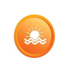 sun and sea button vector image