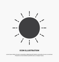 sun weather sunset sunrise summer icon glyph gray vector image