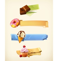 Sweet set of banners vector image