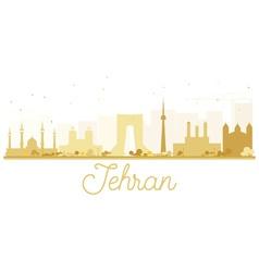 Tehran City skyline golden silhouette vector