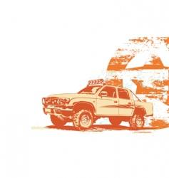 vintage military vehicle vector image