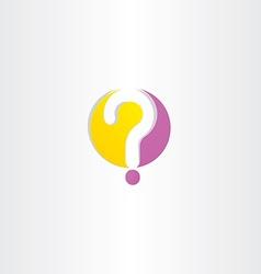 yellow purple question mark logo vector image