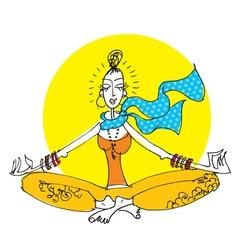 Yoga girl vector
