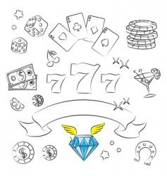 casino graphics vector image vector image