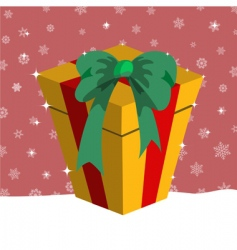 Christmas presents box vector image vector image