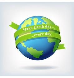 Earth day symbol design vector image