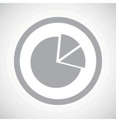 Grey diagram sign icon vector image vector image