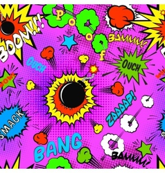 Seamless pattern background with comic bubbles vector image