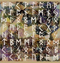 abstract seamless pattern runes grunge texture on vector image