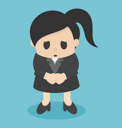 business woman sorry vector image vector image