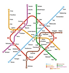 Fictional metro map vector image