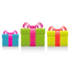 gift box with silk bow vector image vector image