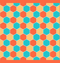 seamless honeycomb pattern hexagon texture vector image
