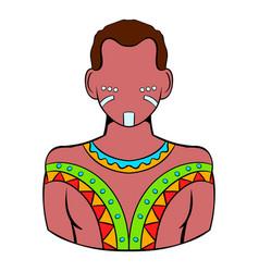 australian aborigine icon cartoon vector image