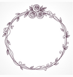 floral frame abstract element for wedding vector image