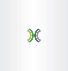 green black letter x logo element vector image
