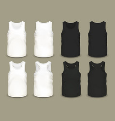 set of isolated men sport shirts or top apparel vector image vector image