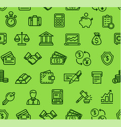 banking pattern background vector image