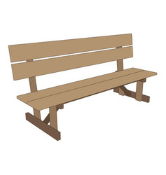 bench park retro white background isolated seat vector image
