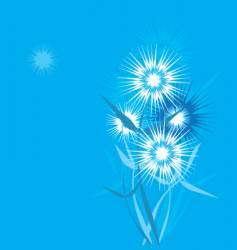 dandelion stylized vector image