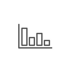 histogram chart line icon financial graph vector image