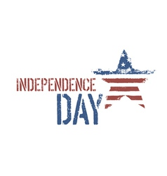 independence day composition vector image vector image
