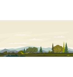 Natural Landscape Background vector image vector image