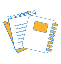rings notebook tool with loose paper vector image vector image