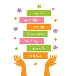 Spring offer vector image vector image