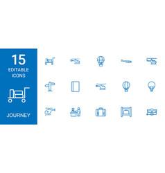 15 journey icons vector