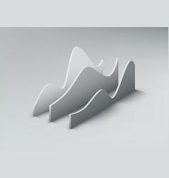 3d graph shapes vector image