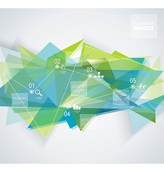 Abstract geometric background with infographic vector image