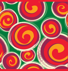 abstract pattern with round shape forms in retro vector image