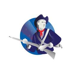 American minuteman revolutionary soldier vector