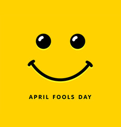April fools day smile icon template design vector