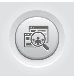Audiences Icon Grey Button Design vector