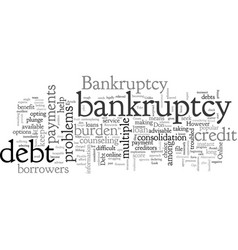 Avoid bankruptcy free and flexible bankruptcy vector