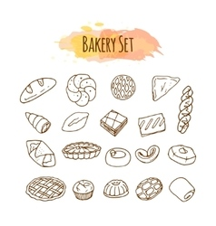 Bakery elements Pastry vector image vector image