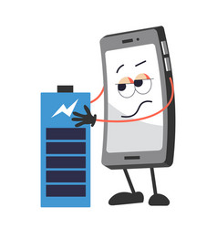 Battery and mobile phone with face full charge vector