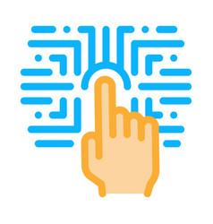 Biometric fingerprint verification icon vector