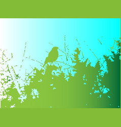 bird in the bush vector image