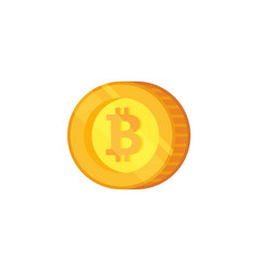 bitcoin icon crypto currency flat vector image