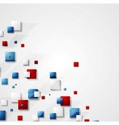 Blue and red squares background vector