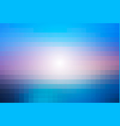 Blue shades pink mosaic square tiles background vector