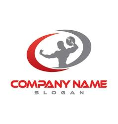 bodybuilder logo vector image