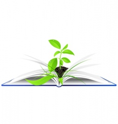 book and plant background vector image