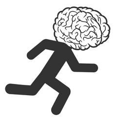 Brain drain icon vector